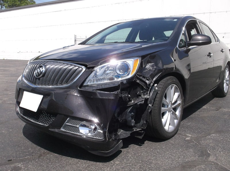 Buick with frontend damage