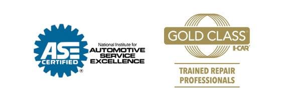 ASE Certified | Gold Class I-Car Certified