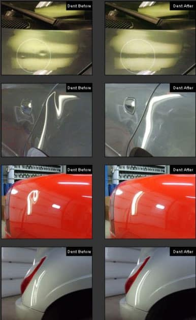 Dentless Fender Repair work examples