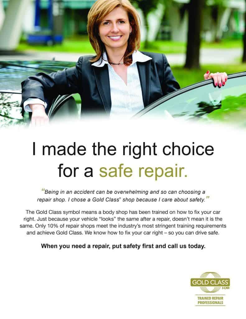 I-Car Gold Class Flyer (text below)