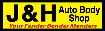 J & H Auto Body Shop Logo